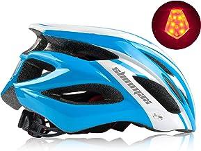 Shinmax Casco Bicicleta Adulto,Casco Bicicleta conVisera,Certificado CE,Casco de Bicicleta para Hombres y Mujeres,Protección de Seguridad Vial en Bicicleta,Casco Bicicleta Adulto Montaña,57-62CM
