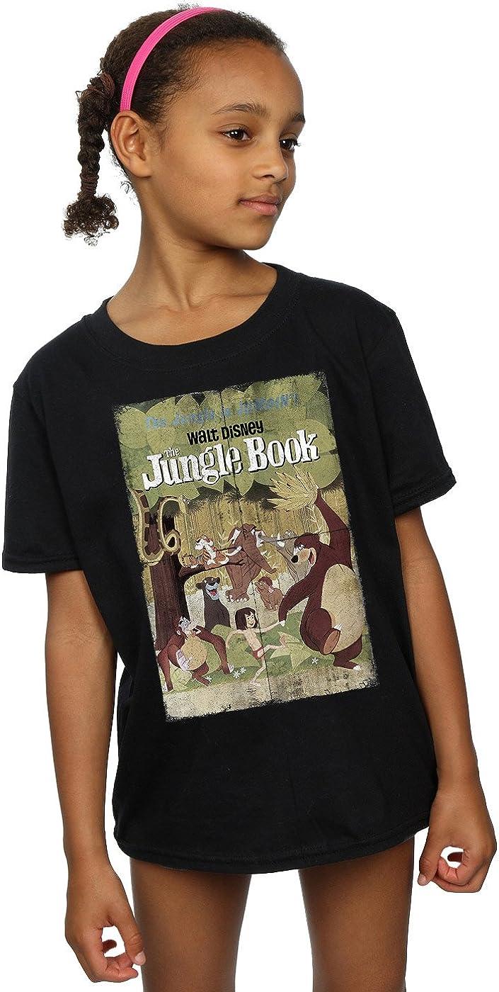 Disney Girls Jungle Book Retro Poster T-Shirt 12-13 Years Black