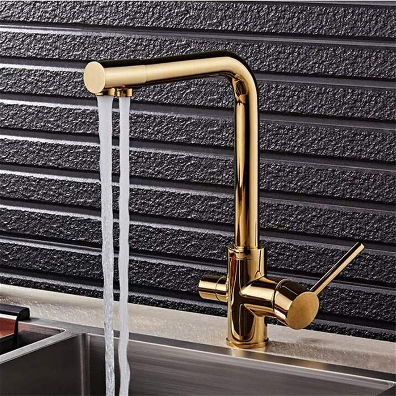 Faucet Vintage Brass Chrome Modern gold Kitchen Sink Faucet Water Filtering Single Handle Antique Brass Kitchen Faucet