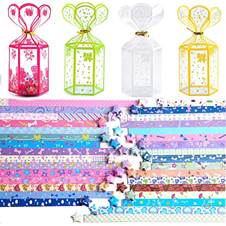 Sanrio Minna No Tabo Lucky Wishing Star Blessing Origami Paper 60 Strips 6 Colors