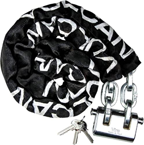 VULCAN Security Chain and Lock Kit - Premium Case-Hardened - 3/8 Inch x 6 Foot Chain Cannot Be Cut with Bolt Cutters ...