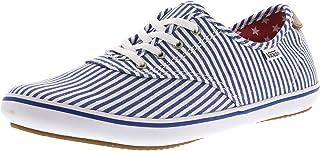 Vans Women's Huntley Faded Flag Ankle-High Canvas Skateboarding Shoe