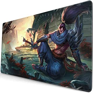 """Large Mouse Pad for Yasuo with Stitched Edges Gaming Mouse Mat Non-Slip Rubber Base Mousepad for Laptop,Computer,PC,Keyboard,11.8""""x23.6"""""""