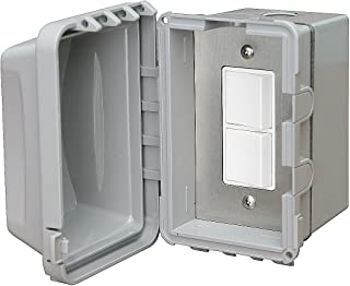 Infratech 14 4320 Accessory - Single Duplex Switch Surface Mount and Gang Box 20 Amp Per Pole, Patio Heater Switch and Wall Plate