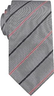 Remo Sartori - Cravatta in Seta Grigia Regimental a Righe Colorate, Made in Italy, Uomo