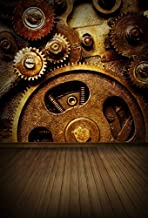 AOFOTO 5x7ft Steampunk Photography Backgrounds Vintage Photo Backdrop Mechanical Gears Industrial Scene Stripe Nostalgic Props Video Studio Adult Man Boy Artistic Portrait Vinyl Wallpaper