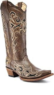 Best brown snip toe cowgirl boots Reviews