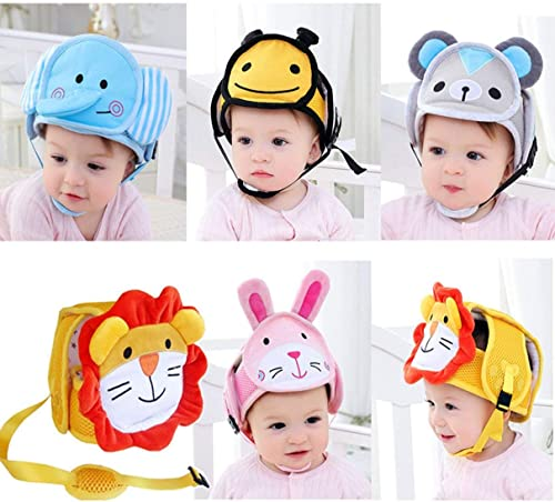 Baby Anti-Fall Head Protection Cap Baby Toddler Anti-Collision Hat Shatter-Resistant Hat Child Safety Helmet Head Cap Lion