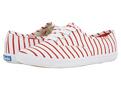 Keds Champion Breton Stripe (White/Red) Women