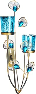 blue candle sconces
