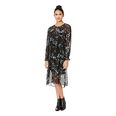 kensie Frosted Blooms Dress KSDK8317 (Black Combo) Women
