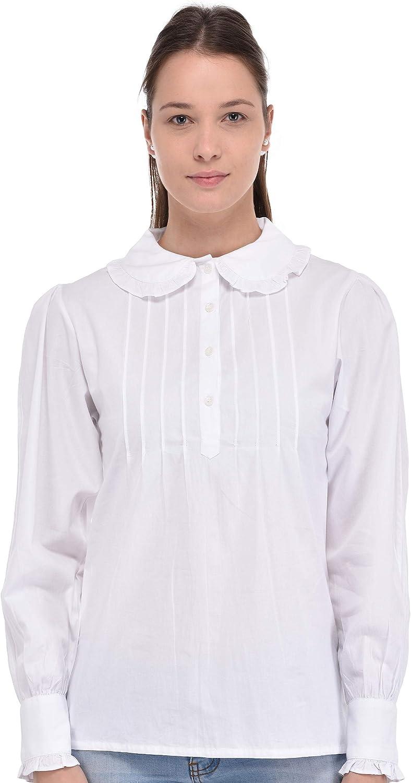 Cotton Lane Plus Size store Plan Blouse Peter Ranking TOP6 White