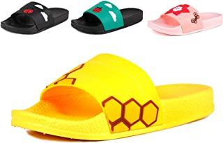 574295996 Anrenity Boys Girls Cute Casual Slide Sandals Summer Beach Pool Indoor Bath  Slippers(Toddler/