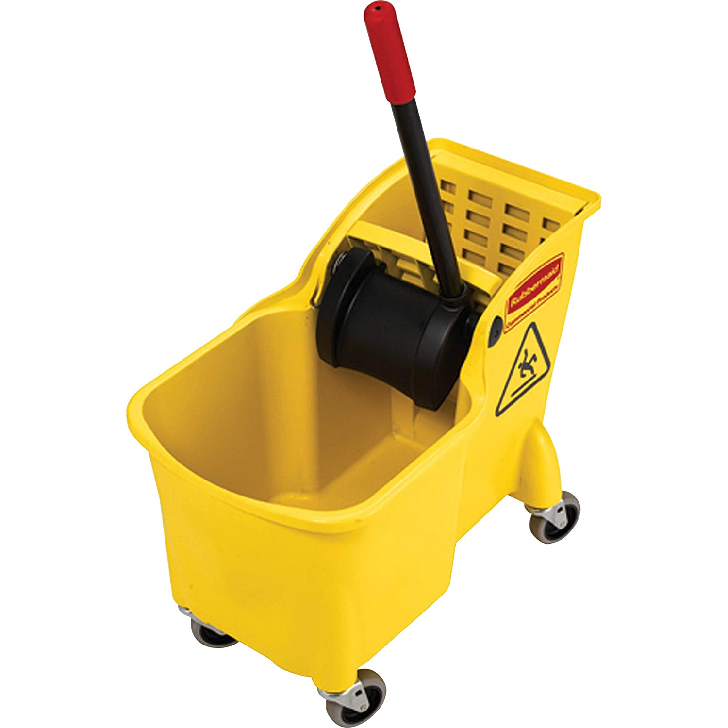 Rubbermaid Commercial Products Mop Recommendation Bucket Store Wheel with Wringer on