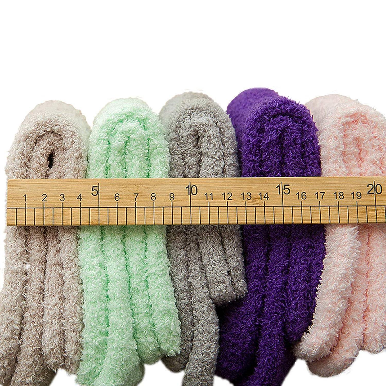 FBLP 靴下 ソックス もこもこ ふわふわ レディース かわいい 部屋 就寝 防寒 ルームソックス女性 冬 冷え対策 暖かい 5足組 セット