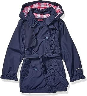 London Fog Girls' Little Lightweight Trench Dress Coat Jacket, True Navy, 6X