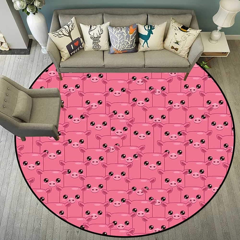 Round Floor mat Bathroom Round Indoor Floor mat Entrance Circle Floor mat for Office Chair Wood Floor Circle Floor mat Office Round mat for Living Room Pattern 4'11  Diameter