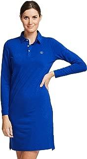 Solbari UPF 50+ Women's Sun Protection Long Sleeve Polo Dress Sensitive Collection - UV Protection, Sun Protective