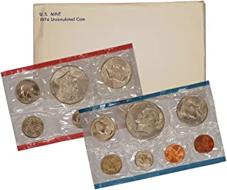 1974 United States Mint Uncirculated Coin Set in Original Government Packaging