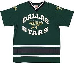 Mighty Mac Dallas Stars NHL Big Boys Youth Vintage Short Sleeve V-Neck Knit Shirt, Green