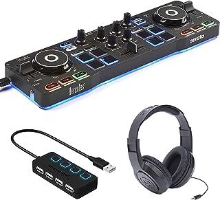 Hercules DJ Control Starlight - DJ Software Controller with Serato DJ Lite + 4-Port USB Hub