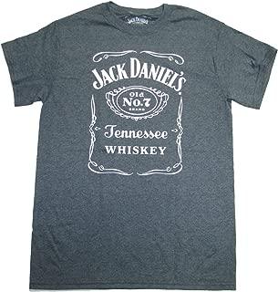 Jack Daniels T-shirt Heather Grey Logo Tee Front