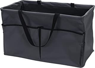 Household Essentials Grey Krush Canvas Utility Tote with Pockets | Reusable Grocery Shopping Bag