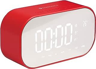 Zebronics Zeb-CLOSIC Mirror Portable BT Speaker with mSD, USB, AUX, FM, Mic, Temperature Sensor & Clock/Alarm Function (Red)