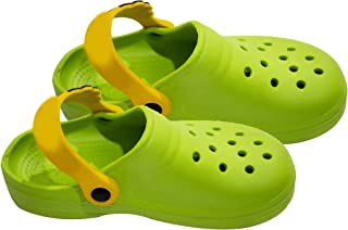 Morges Kids Soft and Comfortable Clog Sandal/Shoes (Size 29, for 6.5 Year Kids) Green