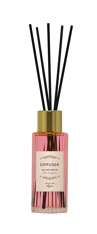 ファブリック郵便作り上げるnobLED candle Bijou ディフューザー ピンクサファイア Pink Sapphire Diffuser ノーブレッド キャンドル ビジュー