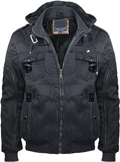 Eurogarment Mens Heavy Sherpa Lined Fleece Hoodie for Men Full Zip Winter Casual Jacket Coat with Front Pocket