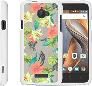 TurtleArmor | Compatible with Coolpad Case | 3622A Case [Slim Duo] Slim Lightweight Snap On 2 Piece Hard Cover Protector Girl on White - Hawaiian Flowers