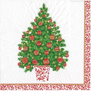 Christmas Napkins Lunch Napkins Paper Napkins Disposable Napkins Christmas Party Napkins for Holiday Party Decorated Tree ...