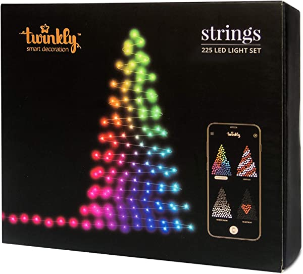 Twinkly 225 LED String Lights Customizable WiFi Enabled LED Lights