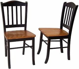 Boraam Shaker Chair, Black/Oak, Set of 2