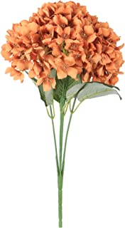 VWMYQ Artificial Hydrangea Silk Flowers 5 Heads with Stems Bouquets Fake Flowers for DIY Home Kichten Wedding Party Baby S...