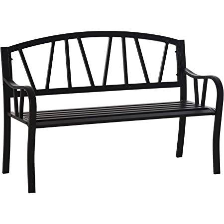 Garden and Park bench with armrests approx 7x4cm Seat Height 2,4 cm.