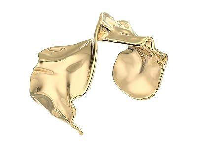 Alexis Bittar Crumpled Metal Twist Cuff Bracelet (10K Gold) Bracelet