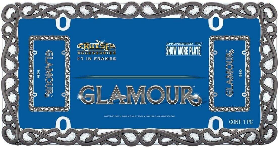 Glamour New arrival Black shopping Pearl Chrome Plate Frame License