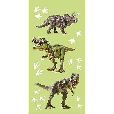 BrandMac ApS Serviette en coton motif dinosaure T-Rex - 70 x 140 cm - Serviette de bain - Serviette de plage Tyrannosarurus Dino