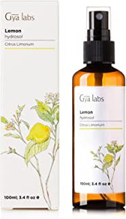 Lemon Essential Oil Spray - 100% Pure and Natural Hydrosol for Body and Face (3.4 oz) - Gya Labs