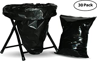 Trail Essentials Carry-Out Toilet Waste Bags and Toilet Liner Bags, Reclosable Outer Bag, Black Opaque, Zip Seal, Leak-Proof, Odor-Free, in Convenient Carry Case