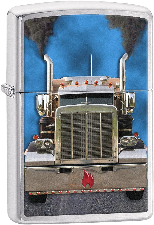Zippo Lighter  Diesel Truck  Brushed Chrome