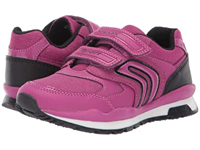 Geox Kids Jr Pavel 5 (Little Kid) (Fuchsia/Black) Girls Shoes