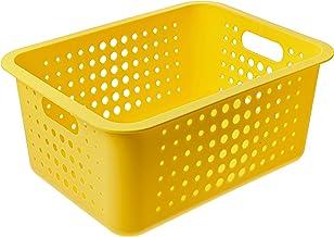 Cesta Organizadora G, Ou, Amarelo