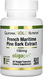 California Gold Nutrition French Maritime Pine Bark Extract, Oligopin, 100 mg, 60 Veggie Capsules