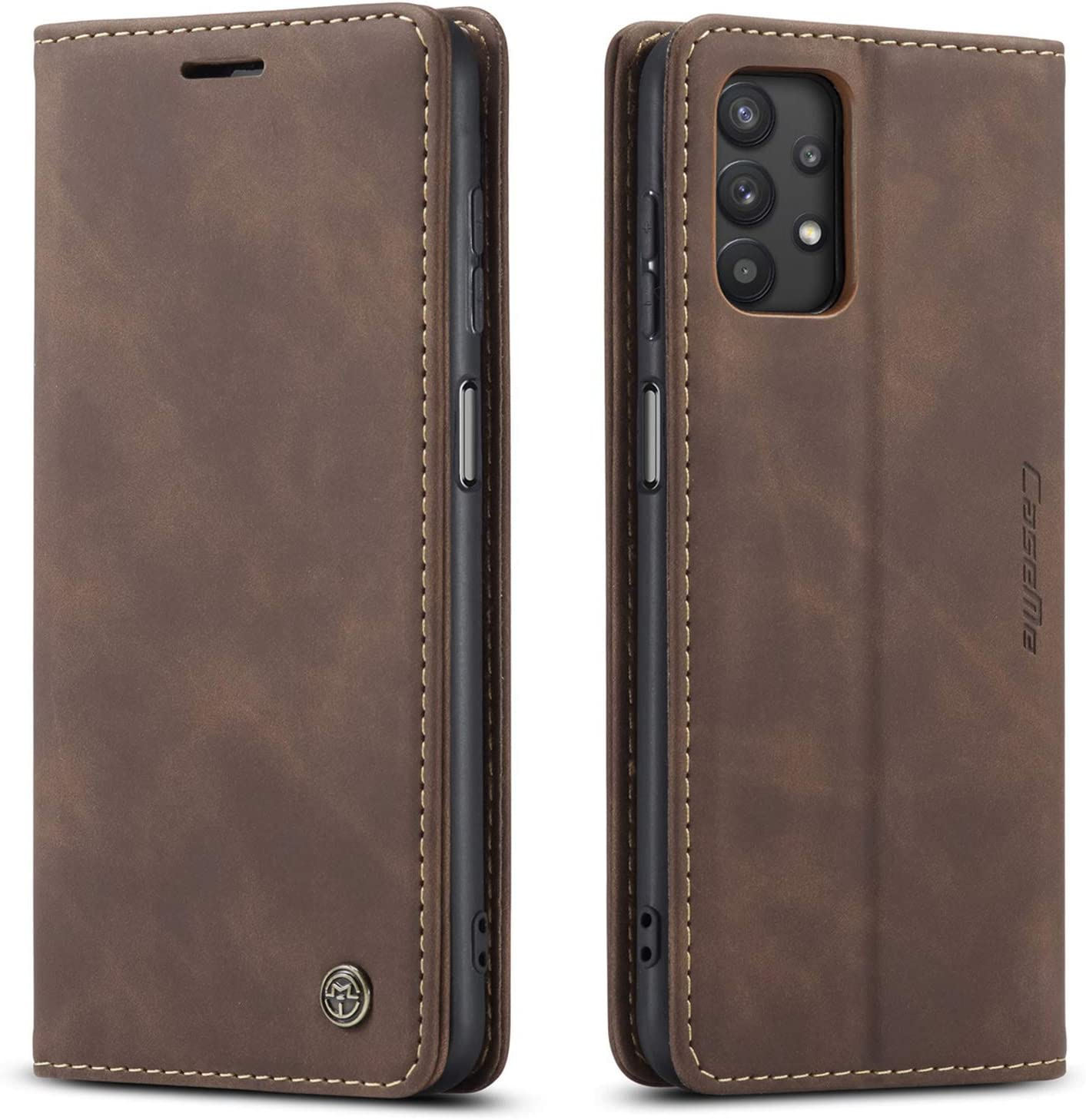 Kowauri Flip Case for Galaxy A32 5G [NOT Compatible with Galaxy A32 4G],Leather Wallet Case Classic Design with Card Slot and Magnetic Closure Flip Fold Case for Samsung Galaxy A32 5G (Coffee)