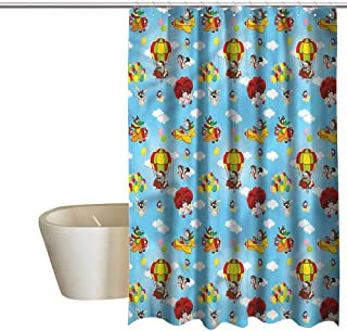 Denruny Shower Curtains Disney Boys Room,Bird on Paper Plane,W72 x L96,Shower Curtain for Shower stall