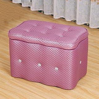 LSX - Stockage Cuir Diamants Tabouret De Rangement Chaussure Banc Foyer Canapé Tabouret Salon Chambre Coiffeuse Centre Com...