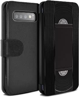 Phone Case Wallet for Samsung Galaxy S10 Retro Tech VHS Cassette Videotape Design Flip Faux PU Leather Cover